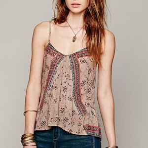 Free People One Mixed Print Tank